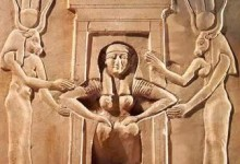 Temple Image of Birth from Ancient Egypt